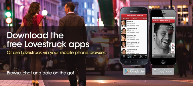 Download the free Lovestruck apps